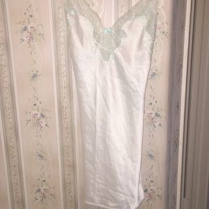 Victoria's Secret cream an mint chemise